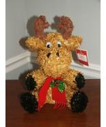 "NWT Tinsel Christmas FIGURINE Decos  REINDEER 12"" TALL - $17.81"
