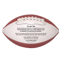 Custom Mini Football To Our Son Wedding, Graduation, Birthday, Christmas Gift - $34.95