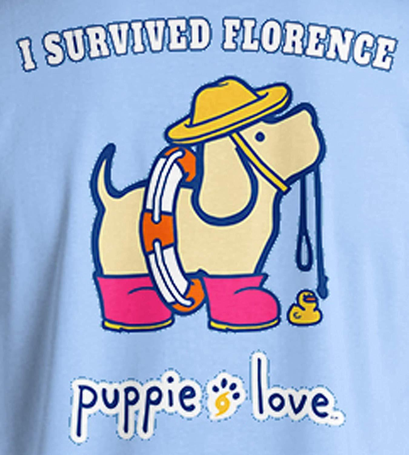 Puppie Love Rescue Dog Adult Unisex Short Sleeve Graphic T-Shirt, Florence Pup