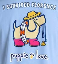 Puppie Love Rescue Dog Adult Unisex Short Sleeve Graphic T-Shirt, Florence Pup image 2