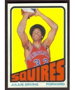 JULIUS ERVING Dr J Rookie Card RP #195 Squires RC 1972 T Free Shipping - $2.95