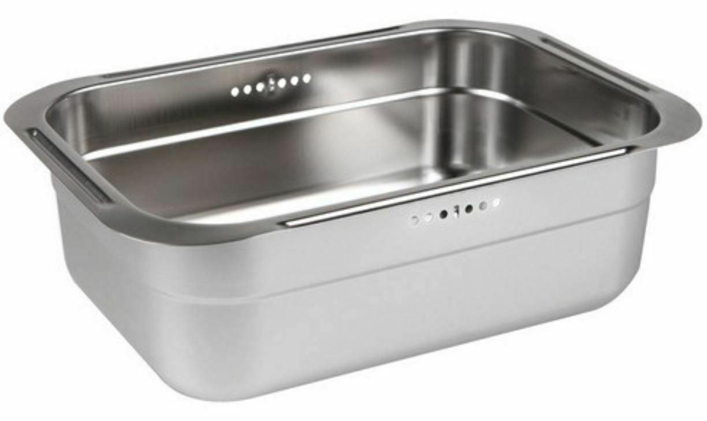 Incoc Stainless Steel Basin Bucket Dishpan Dish Washing Bowl Basket (Small)