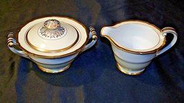 Noritake China Japan Goldora 882 Cream and Sugar with lid AA20-2140 Vintage image 3