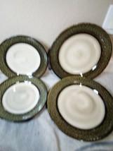 4) Gibson Plates 2 Each Salad & Dinner Option Crackle Free Ship Vgc - $43.20