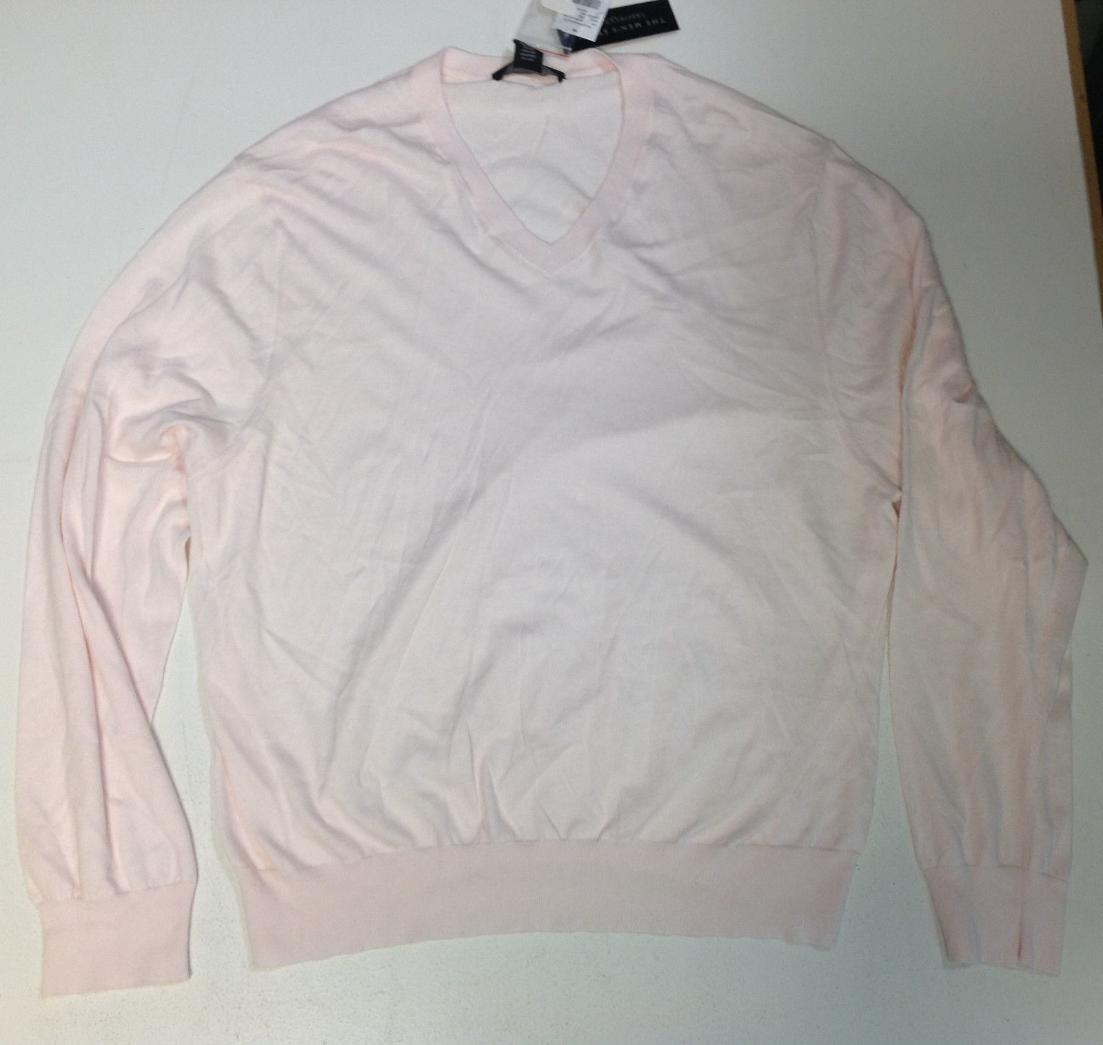 The Men's Store at Bloomingdale's V-Neck Cotton-Cashmere Sweater, Size XL, $98
