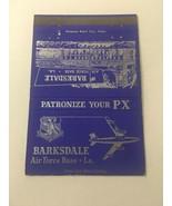 Vintage Matchbook Cover Matchcover US Air Force Base Barksdale LA - $5.70