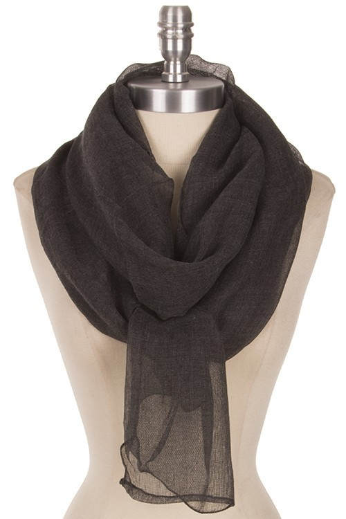 Soft Charcoal Gray Layering Scarf, Super Soft Scarf, Chic Fashion Scarves, Grey