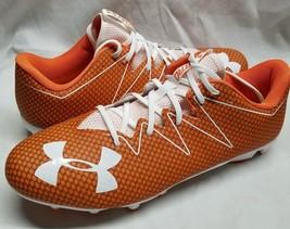 Under Armour Sz 15 Nitro Low MC Football Cleats Orange White 1269721-811 - $28.04