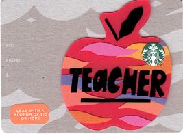 Starbucks 2018 Teacher Mini Collectible Gift Card New No Value - $1.99