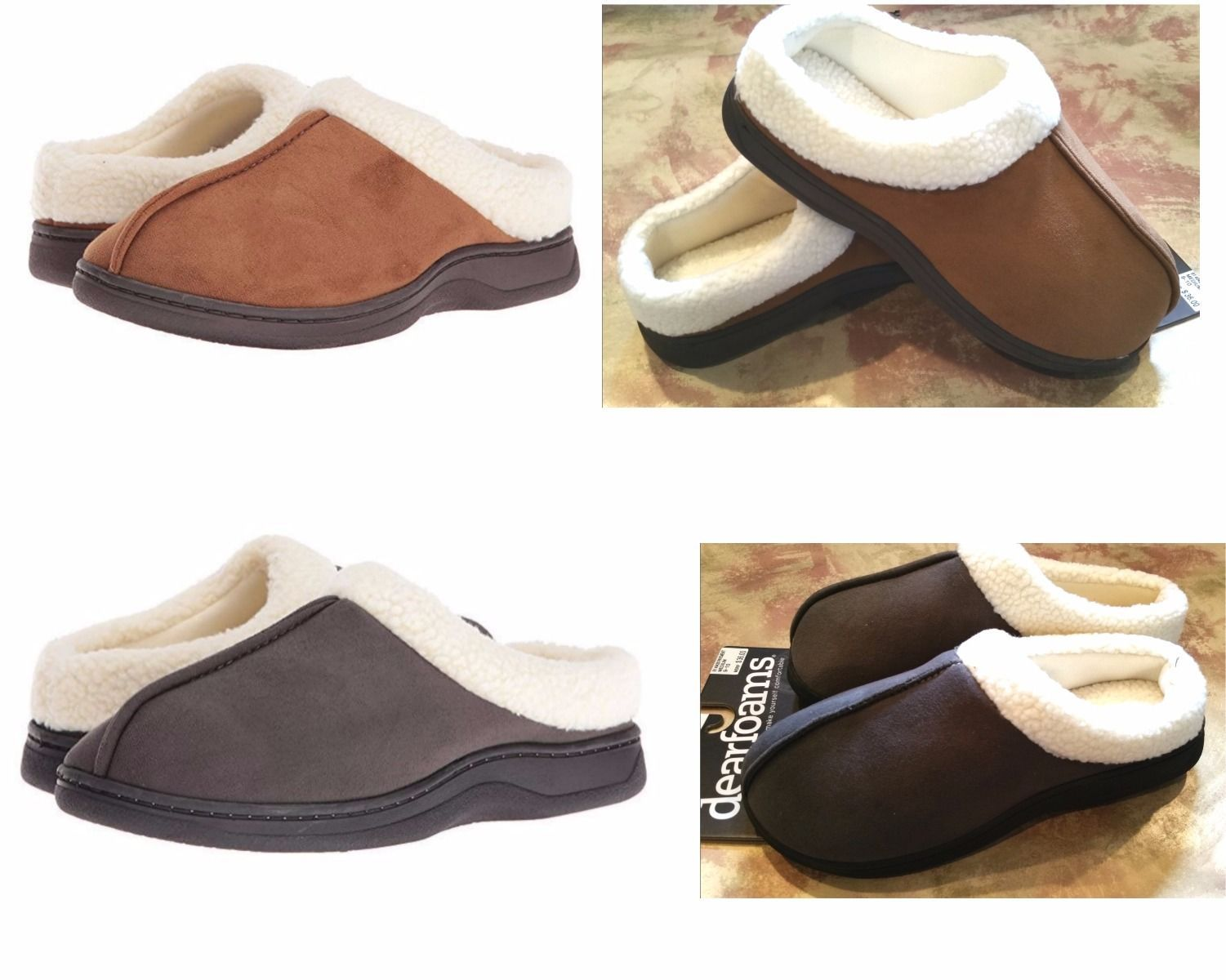 c619530ad S l1600. S l1600. Previous. Dearfoams Mens Faux Suede Sherpa Clog Slippers  MicroFiber-Indoor/Outdoor $36 New
