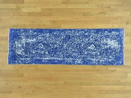 "2'5""x7'6"" Wool and Silk HandKnotted Broken Persian Design Runner Rug G32580 - $885.48"