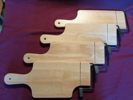 WOODEN SET OF 4 INDIVIDUAL CHEESE CUTTING BOARDS - $15.00
