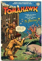 TOMAHAWK #9 1952- DC WESTERN -INDIAN ATTACK- GOLDEN AGE g/vg - $60.53