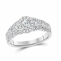 14k White Gold Oval Diamond Bridal Wedding Engagement Ring 1-1/5 Ctw (Ce... - £1,693.06 GBP