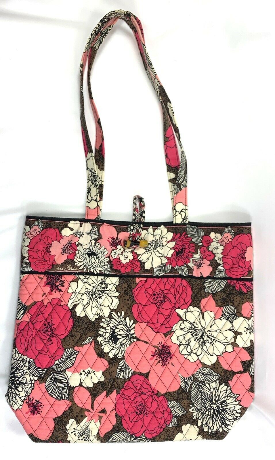 Vera Bradley Floral Motif Tote Hand Bag • Excellent • FREE Shipping