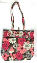 Vera Bradley Floral Motif Tote Hand Bag • Excellent • FREE Shipping image 1