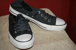 Chuck Taylor Converse All Star Low Top Blue/Black Shoreline Slip Elastic... - $23.24