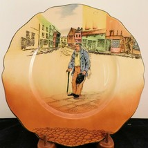 """Royal Doulton Dickens Ware """"Old Peggoty"""" Scalloped Rim Rack Plate - $28.49"""