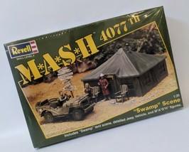Vintage 1994 Revell 1:35 MASH 4077th 'Swamp Scene' Model Kit Playset 433... - $75.00