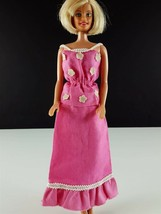 Barbie Pink Peasant Skirt & Top White Flower Appliques Top Clone 1960s C... - $19.79