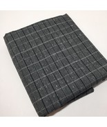 "2 Yards Black White Grey Fabric 60"" Cotton Polyester - $12.59"