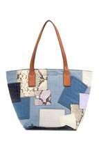 Marc Jacobs Denim Patchwork Wingman Tote Bag MSRP: $450.00 - $247.50