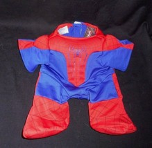 Build A Bear Padded Spiderman Marvel Comics Red & Blue One Piece Outfit Babw - $7.25