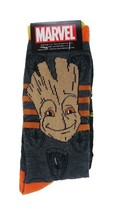 Marvel Groot and Raccoon Socks 2-pair sz M/L Medium/Large (6-12) Dark Grey - $16.99
