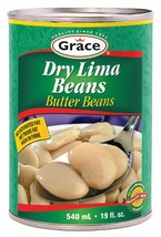 12X Grace Dry Lima Beans CANS 540ml FROM Canada ALWAYS FRESH  - $49.25