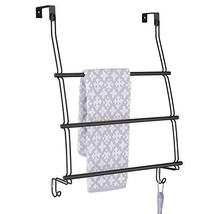 mDesign Modern Decorative Metal Wire Over The Door Towel Rack Holder Org... - $15.77