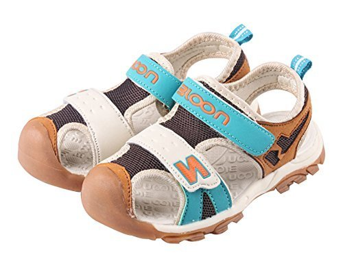 Baby Boy's Outdoor Casual Beach Sandal Shoes BROWN, Feet Length 13.7CM