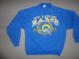 St. Louis Rams Vintage 1994 Blue NFL Football Crew neck Sweatshirt Mens XL NICE - $29.54
