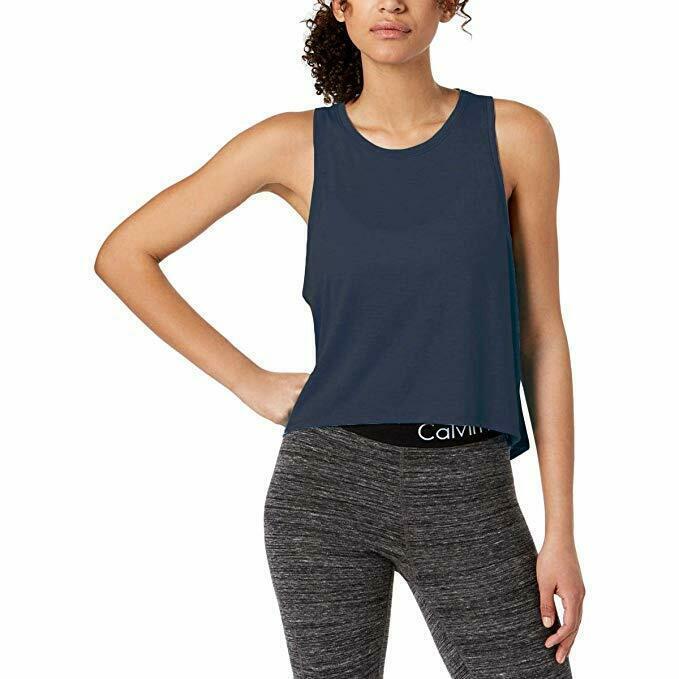 Calvin Klein Performance Womens Fitness Workout Tank Top in Graphite Blue, XXL - $16.82