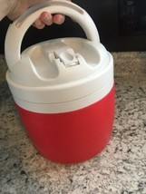IGLOO ELITE ROUND COOLER 1 Gallon Red White Canine DOG Beverage BOWL - $27.90