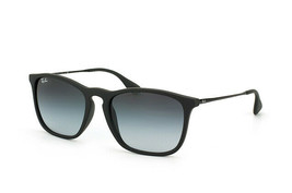 New Ray-Ban RB4187 622/8G Chris Black Squared Sunglasses Gradient Lens 54mm - $115.43