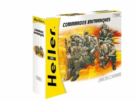 Heller British Commandos Model Kit #71211 40 Pieces 1:72 Scale New in Box - $12.88