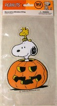 "Peanuts Halloween 7.5"" Window Cling Snoopy Woodstock 50 years the Great ... - $8.39"