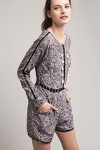 New $158 Hettie Lace Romper by Ranna Gill GRAY/BLUE Size 6 SMALL - $43.56