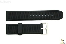 24mm Heavy Italian Textured Rubber Black Watch BANDCompatible FIT Luminox - $20.65