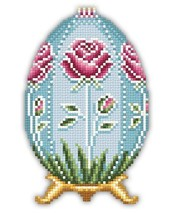 Rose Faberge Easter Egg floral spring cross stitch chart Solaria Designs - $4.00