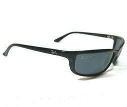 Ray-Ban Sunglasses Polished Black Wrap Polarized Blue Lenses RB4034 601-S/81 120 - $233.74