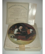 Norman Rockwell Grandpa's Gift Plate Golden Moments Collection 1987 w/ B... - $15.99