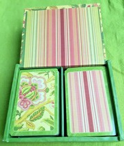 Vintage Waverly Samsara Playing Cards CR Gibson Wooden Box Set 2 Decks C... - $7.99
