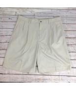 IZOD Pleated Khaki Shorts - Size 34 - $14.54