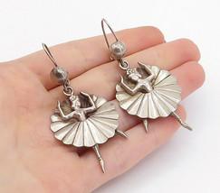 MEXICO 925 Sterling Silver - Vintage Sculpted Ballet Dancer Drop Earring... - $64.69