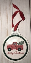 Red pickup truck and tree Christmas Ornament - $7.00