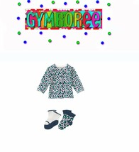 "Gymboree Girls ""We Have Arrived""Dotted Cardigan/socks 2 Piece Set Size 3-6m New - $25.73"
