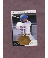 1997 Pinnacle XPress Swing For the Fences GOLD Sammy Sosa Chicago Cubs - $3.99