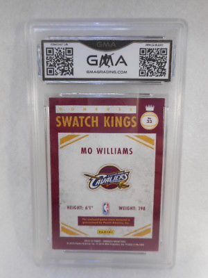 2015 Donruss #5 Mo Williams Swatch Kings GMA Graded 8