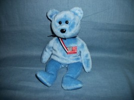 TY Beanie Babies America The Blue Bear With Tush Tag Only 2001 - $2.48